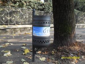 cestino porta rifiuti gtm spa